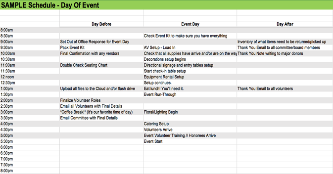 How to Tackle Your Day of Event Checklist with Ease