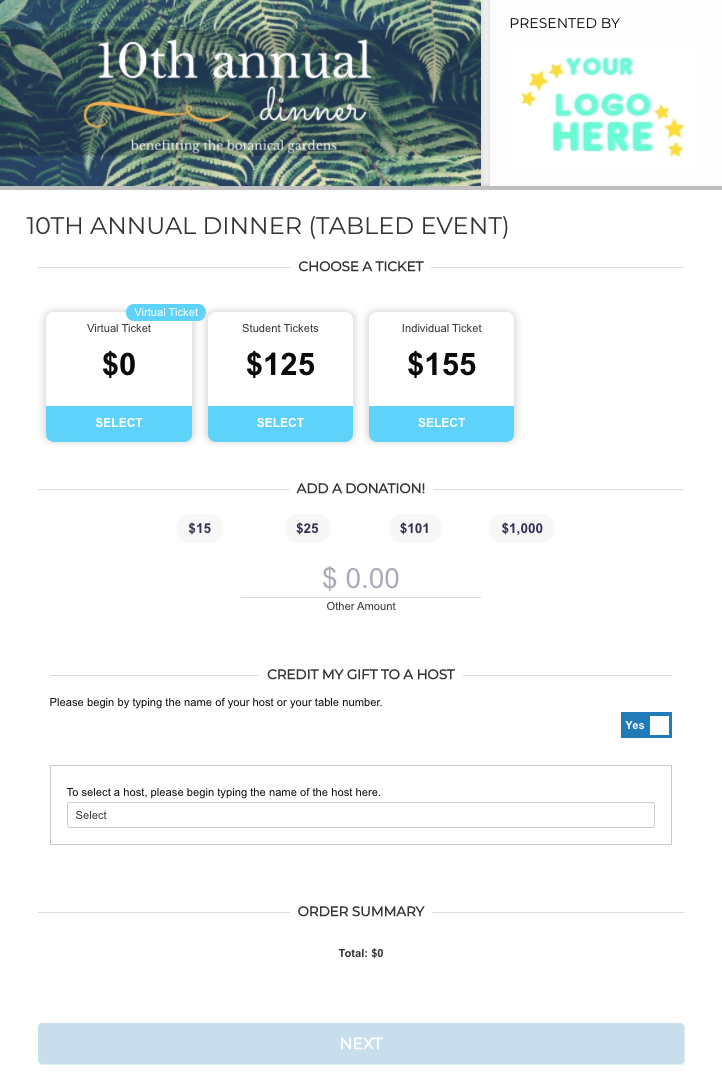 Swell Ticket Page Example